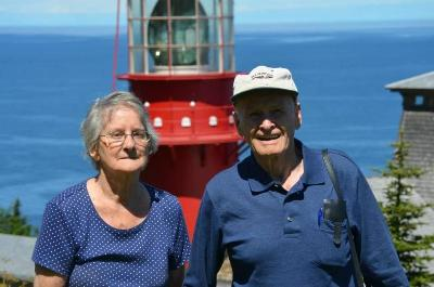 Merilyn and Russell in Gaspe